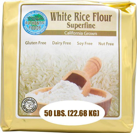 Authentic Foods White Rice Flour, Superfine - 50 lb