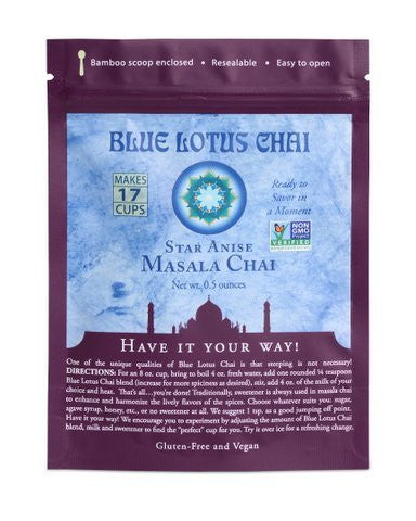 Blue Lotus Star Anise Masala Chai - .5oz Package (17 cups)
