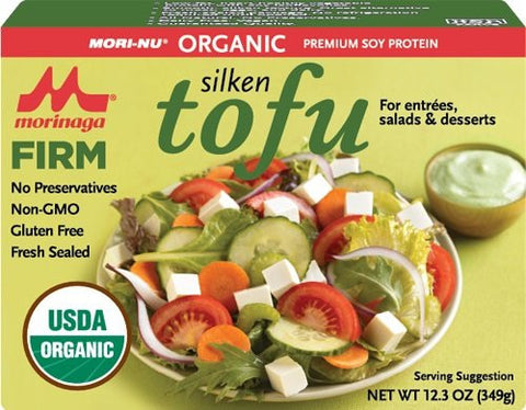 Mori-Nu Organic Silken Tofu, Firm, 12.3 Oz (Pack of 12)