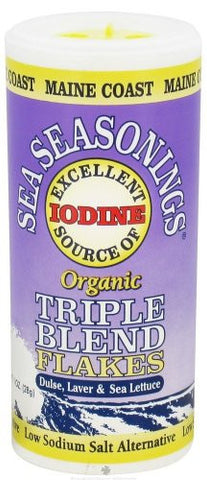 Maine Coast Sea Vegetables - Sea Seasonings Organic Triple Blend Flakes - 1 oz.
