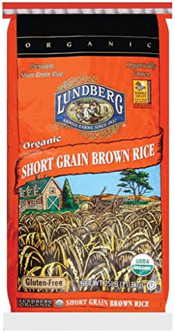 Lundberg Organic Short Grain Brown Rice, 25-Pound