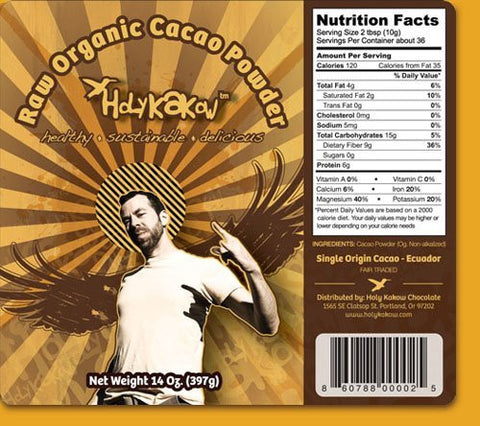 Holy Kakow Raw Organic Cacoa Powder - 14 oz Bag
