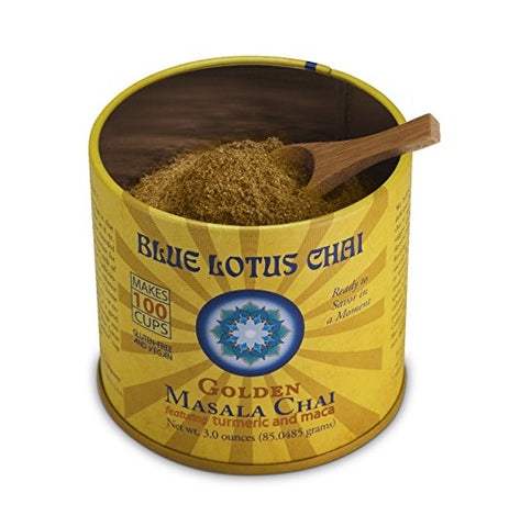 Blue Lotus Golden Masala Chai - 3oz Tin (100 cups)