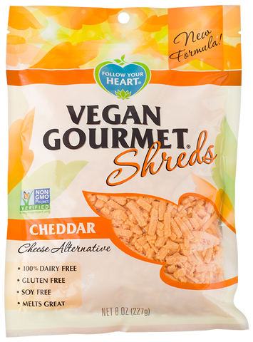 Follow Your Heart Vegan Cheese, Cheddar Shreds - 5 Lb