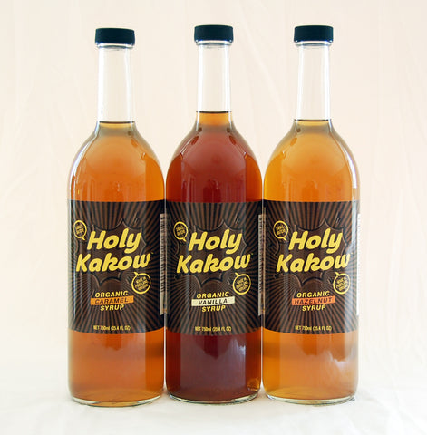 Holy Kakow Cafe Organic Syrup Sampler - 6 (750 ml) Bottles