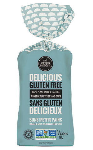 Little Northern Bakehouse, Millet Chia Burger Buns - Case of 6
