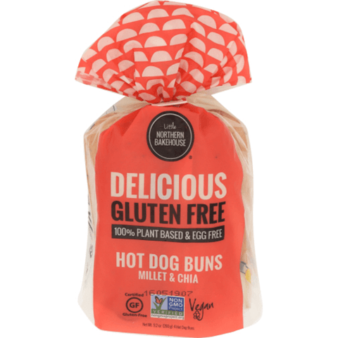 Little Northern Bakehouse, Millet Chia GF Hot Dog Buns - Case of 6