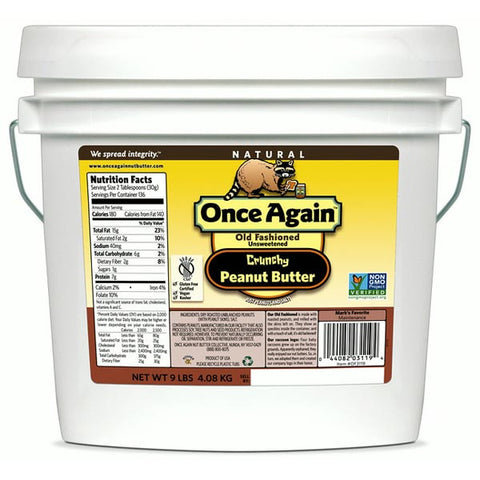 Once Again Natural Crunchy Peanut Butter, Salted - 9 lbs