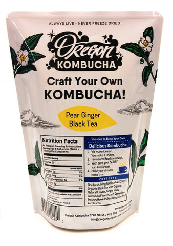 Oregon Kombucha Starter Kit - Pear Ginger Black Tea