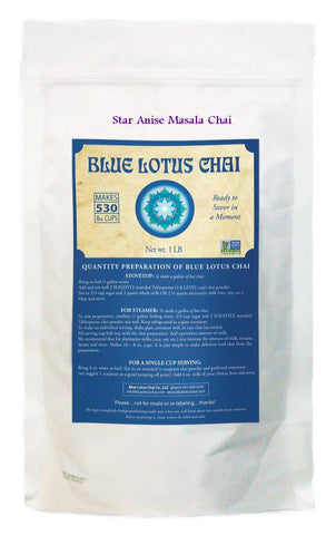 Blue Lotus Star Anise Masala Chai - Bulk 1 Lb Bag (530 Cups)