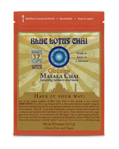 Blue Lotus Golden Masala Chai - Package (17 cups)