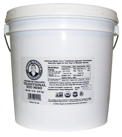 Miso Master Organic Miso - Traditional Red, 15 Lb