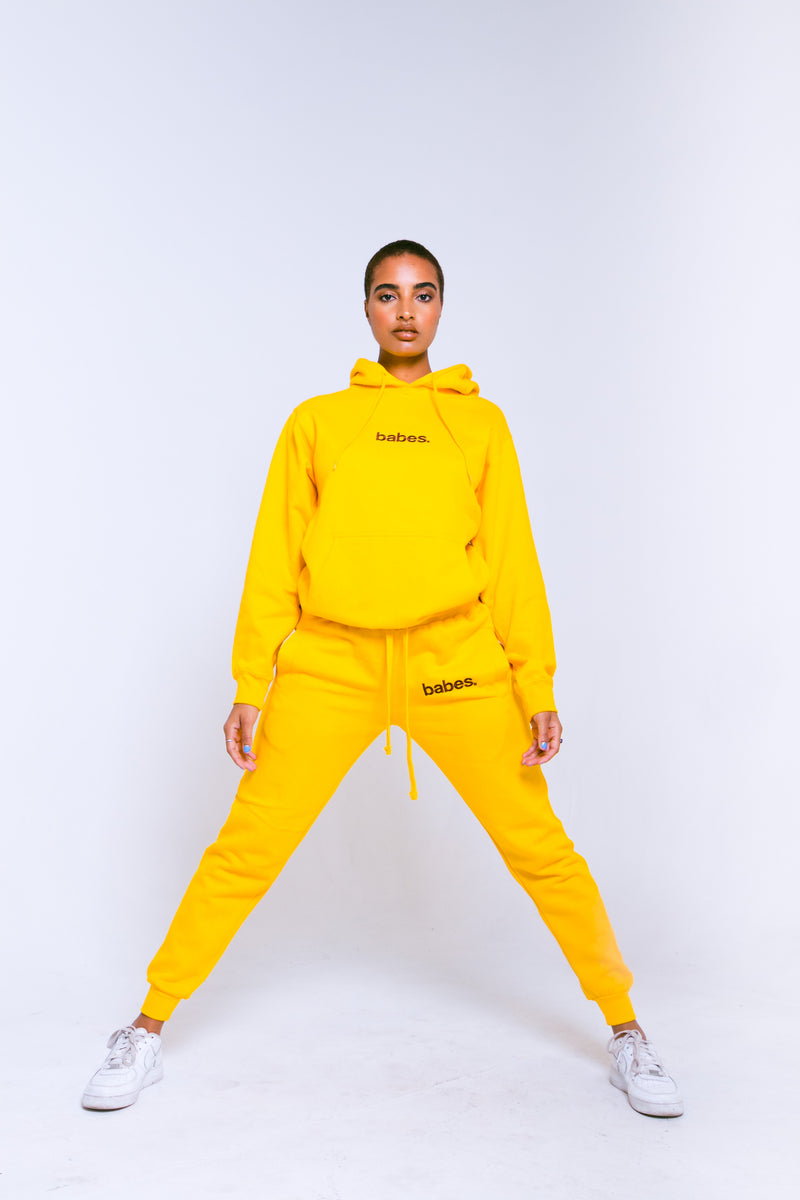 "Babes Comfy Hoodie ""Yellow"""