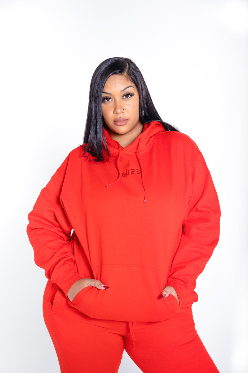 """Candy Red"" Babes Comfy Hoodie"