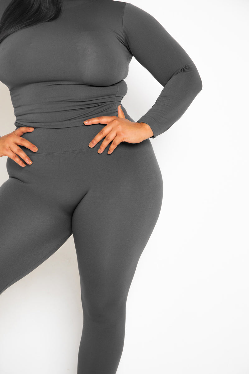 The Gray Yoga Tummy Control Legging fits up to PLUS! (Choose Your Size!)