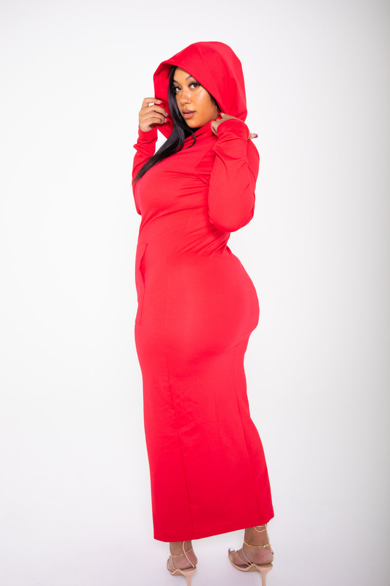 The Coven Hooded Dress (Red)