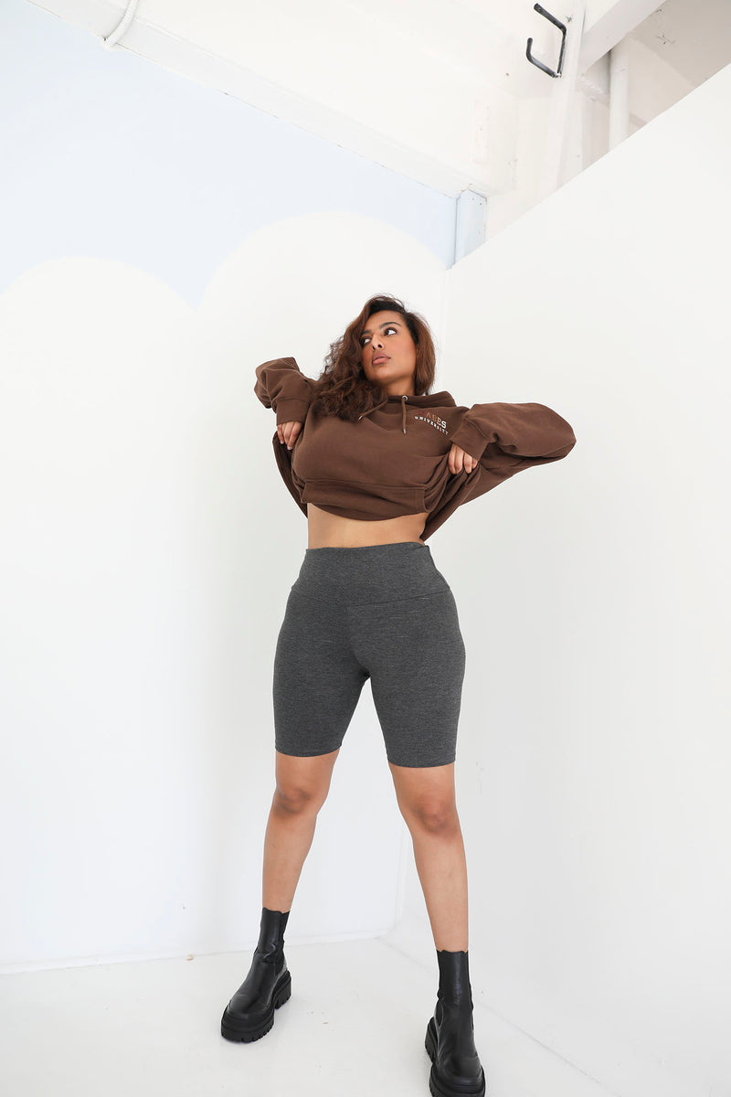 Tummy Control SHAPING High Waist Biker Short (Charcoal)