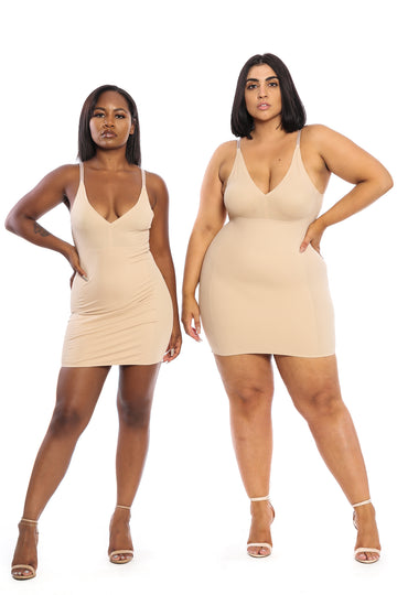 The Tummy Control Dress in Nude - Babes And Felines | Specializing in Fashionable Staple Pieces for Every Shape and Size