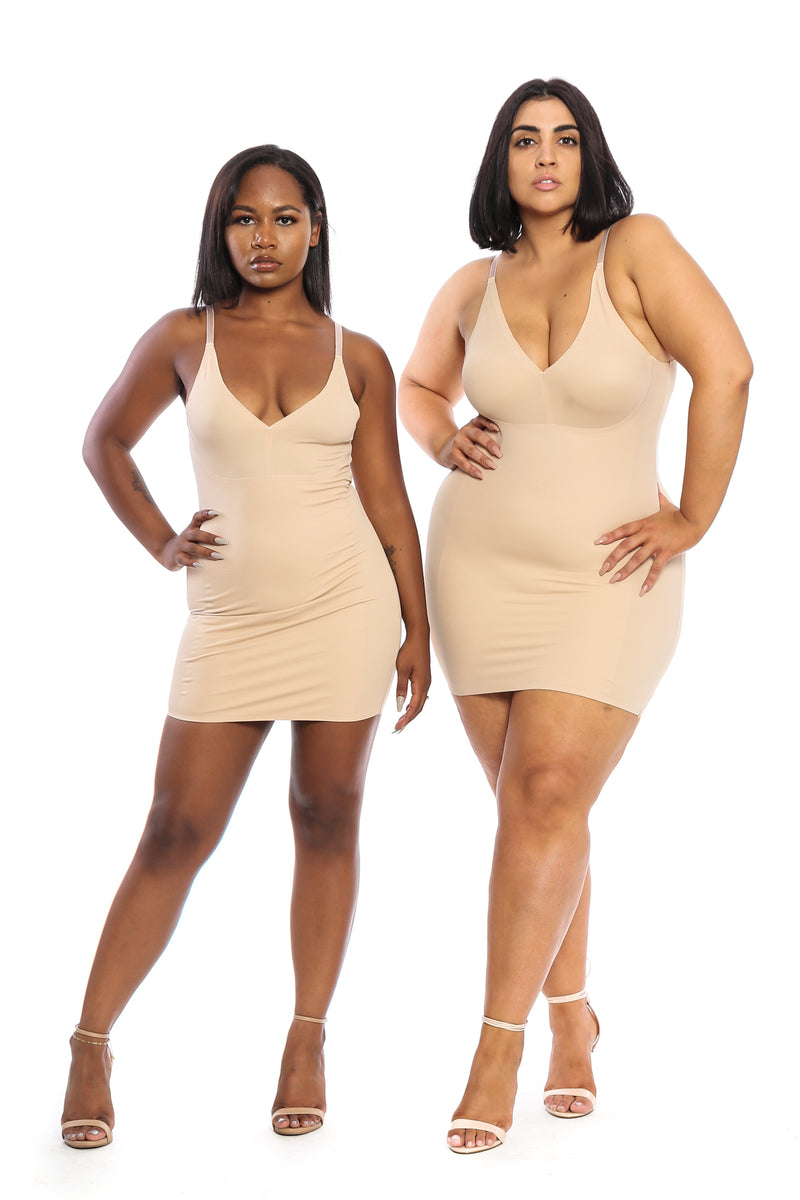 The Tummy Control Dress in Nude - Babes And Felines | Specializing in Fashionable Staple Pieces for Every Shape and Size (109447839764)
