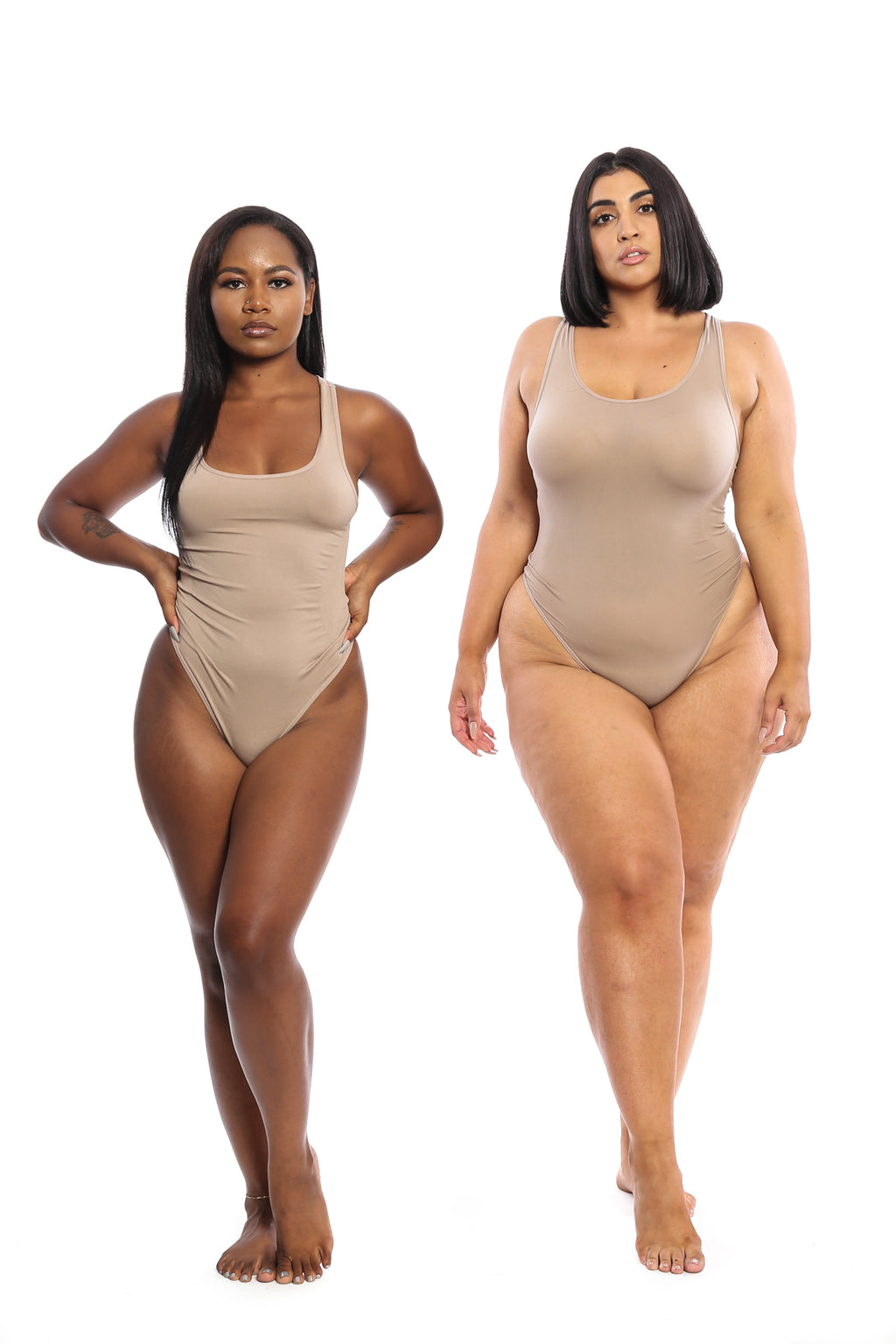 Mocha Body By Babes Thong Bodysuit w/ Tummy Control - Babes And Felines | Specializing in Fashionable Staple Pieces for Every Shape and Size