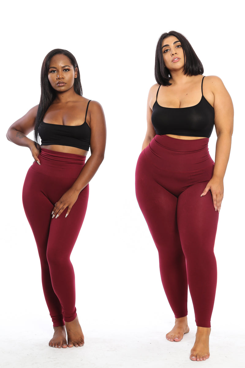The Wine Yoga Tummy Control Legging fits up to PLUS! (choose your size) - Babes And Felines | Specializing in Fashionable Staple Pieces for Every Shape and Size (109454458900)