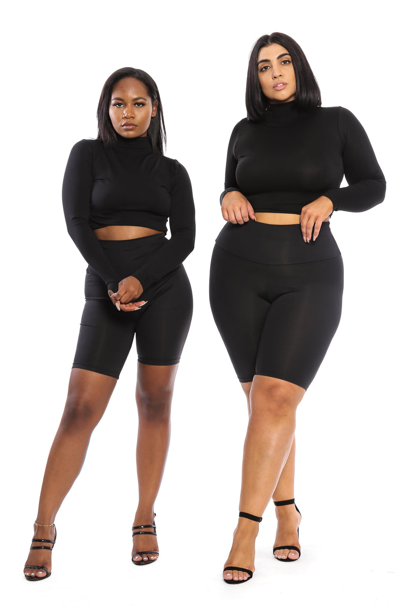 TUMMY CONTROL High Waist Black Babe Biker Short - Babes And Felines | Specializing in Fashionable Staple Pieces for Every Shape and Size (11604106644)