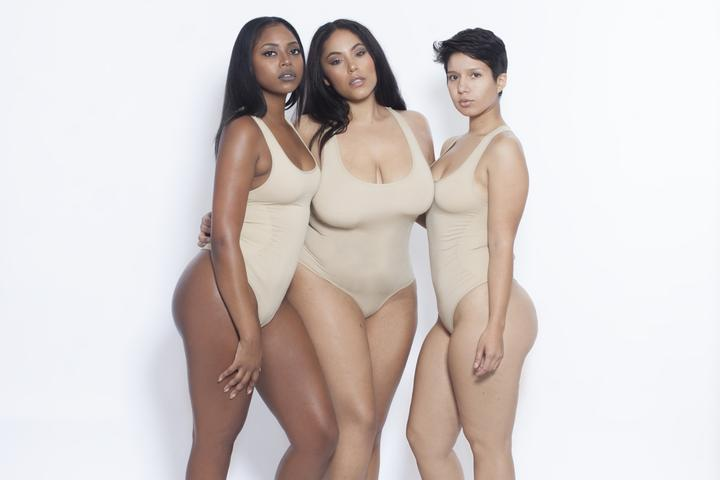 Nude Body By Babes Thong Bodysuit w/ Tummy Control