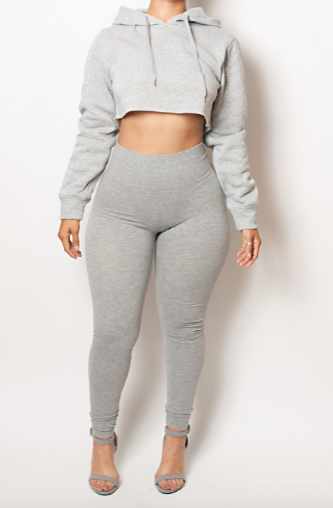 The Gray Cotton Tummy Control Legging (fits up to Plus) - Babes And Felines | Specializing in Fashionable Staple Pieces for Every Shape and Size
