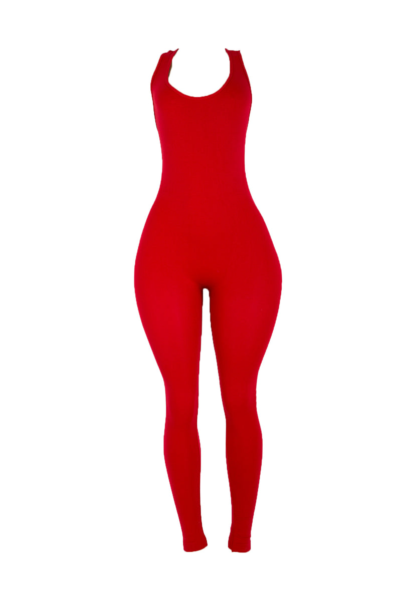 Ruby Red Racer Bodysuit