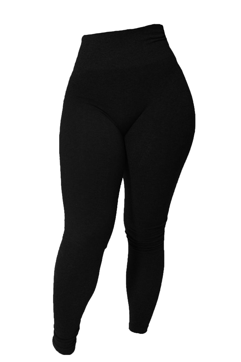The Black Cotton Tummy Control Legging (fits up to Plus) - Babes And Felines | Specializing in Fashionable Staple Pieces for Every Shape and Size (11043046932)