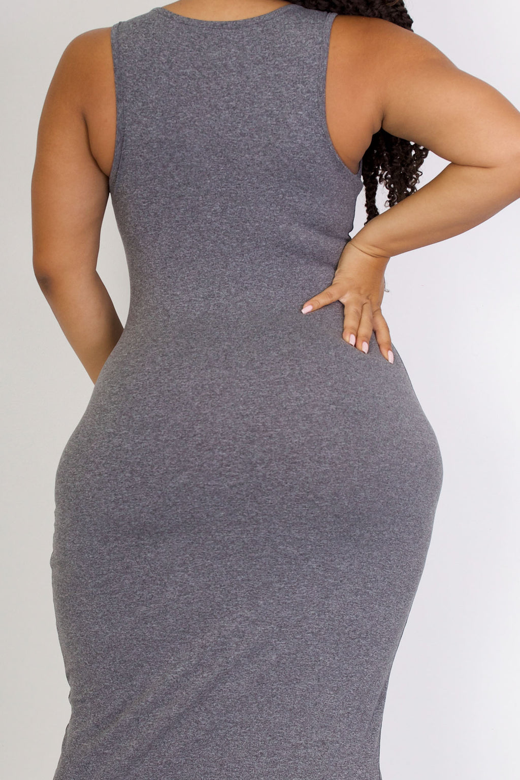 The Body Dress 'Pepper Gray' (fits up to Plus)