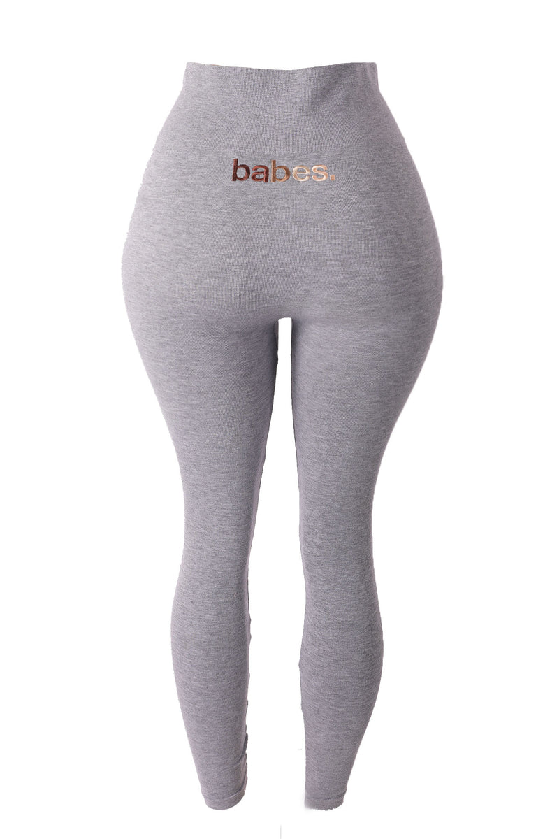 BABES SERIES Gray Cotton Tummy Control Legging