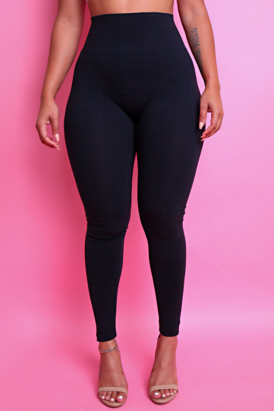 The Black Cotton Tummy Control Legging (fits up to Plus) - Babes And Felines | Specializing in Fashionable Staple Pieces for Every Shape and Size