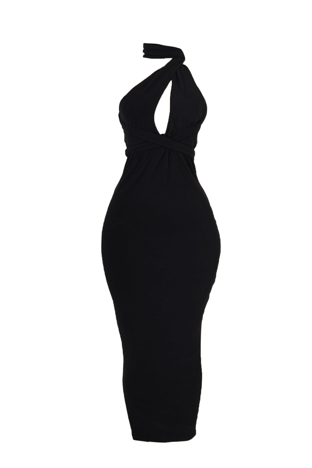 Tie Bodycon Dress (Black)