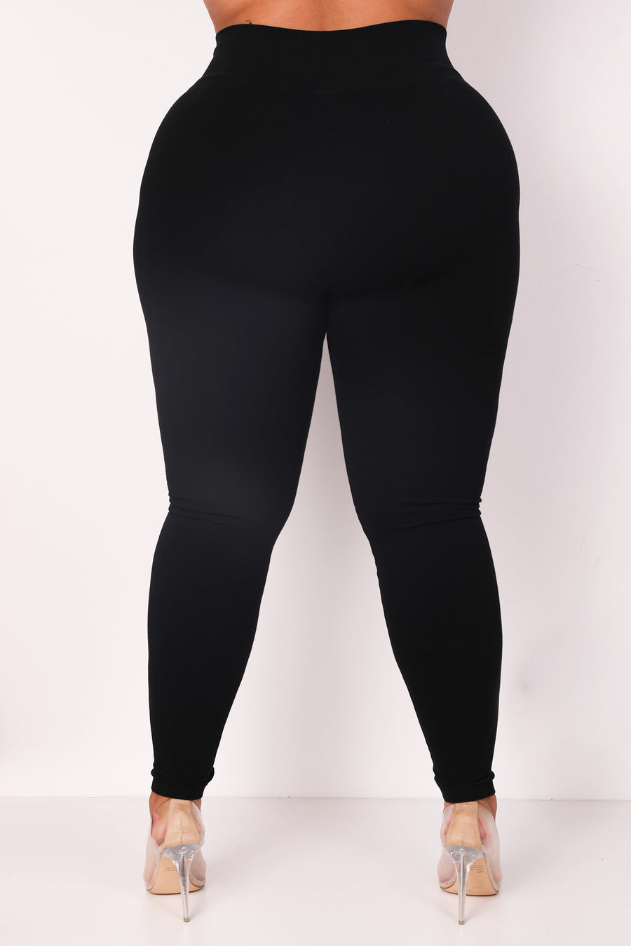 The Black Cotton Tummy Control Legging (fits up to Plus)