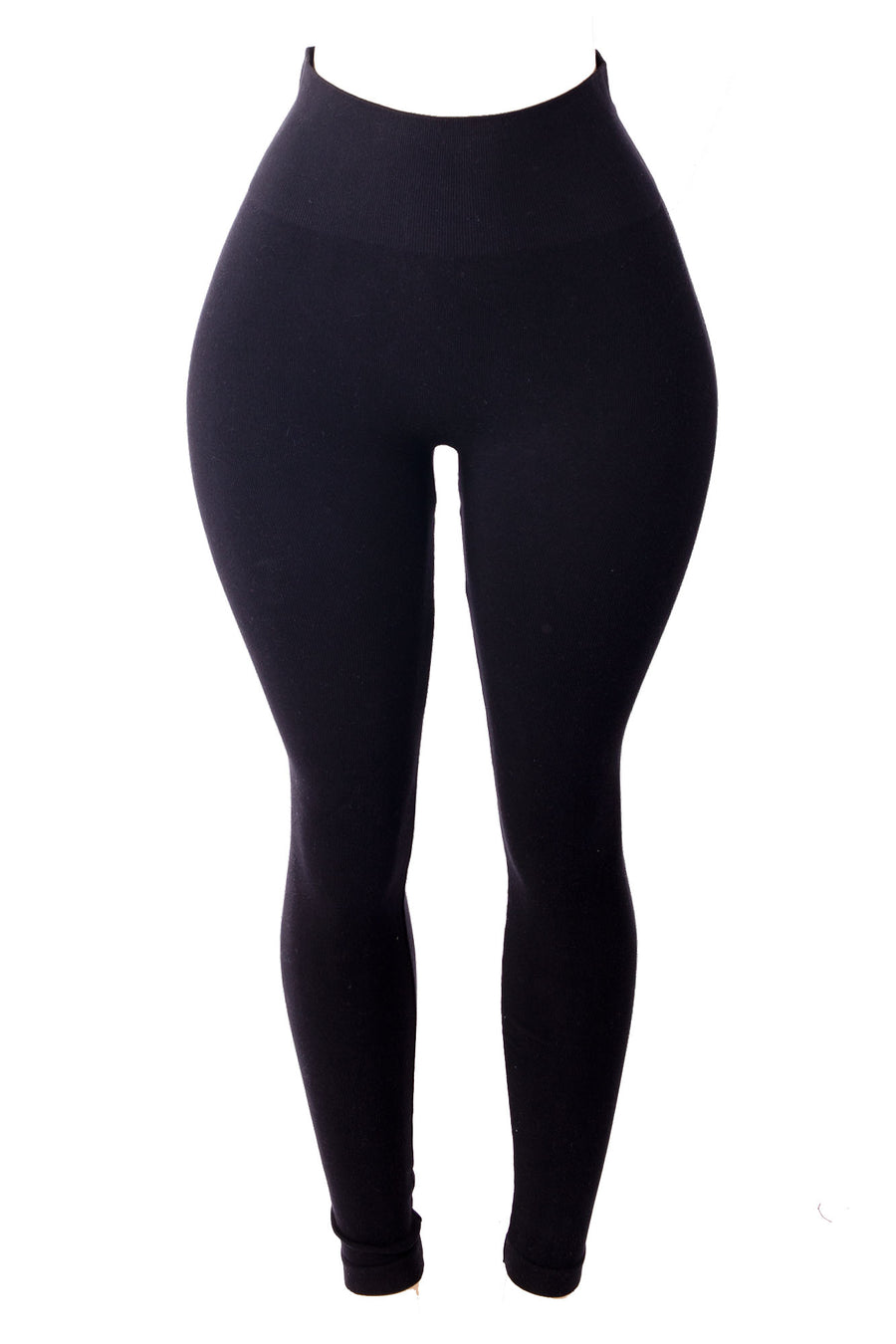 Babes Series Black Cotton Tummy Control Legging