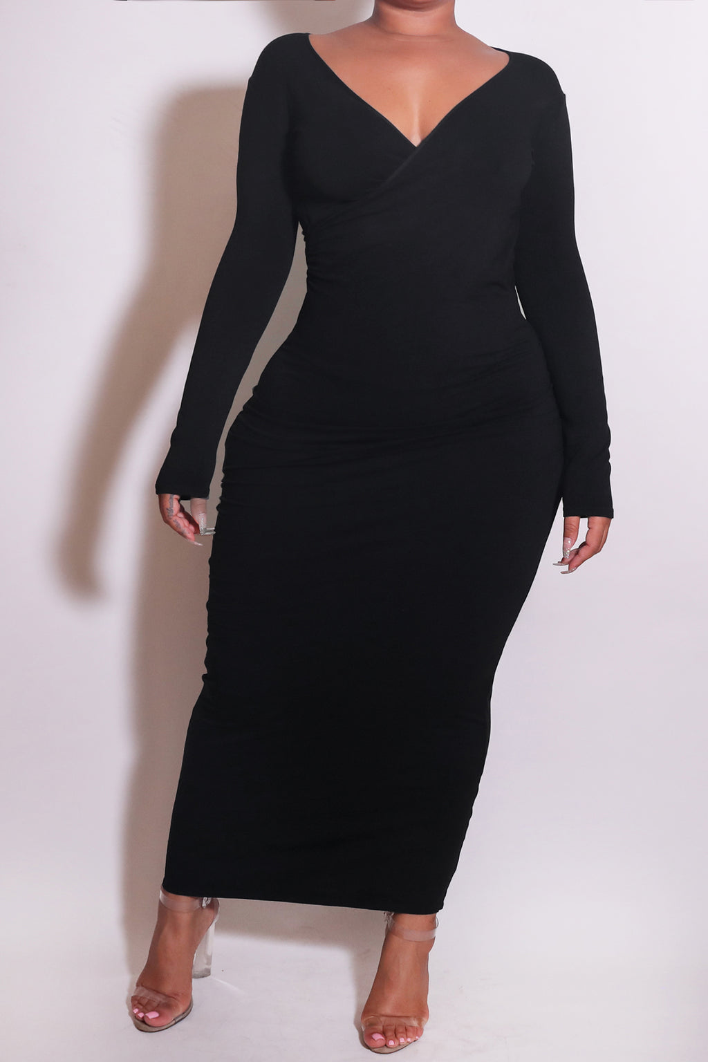 The Wrap Bodycon Maxi Dress Black - Babes And Felines | Specializing in Fashionable Staple Pieces for Every Shape and Size (1449225519176)