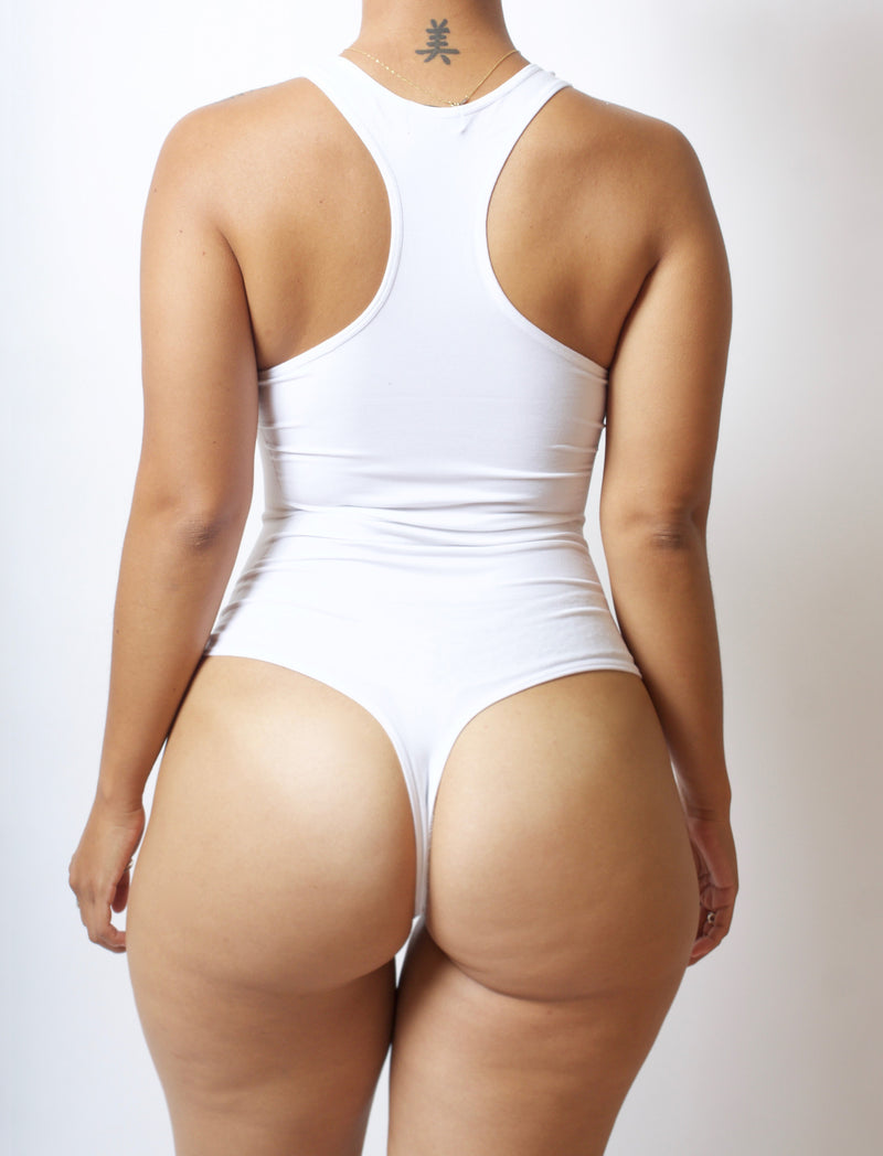 White Body by Babes Thong Bodysuit w/ Tummy Control - Babes And Felines | Specializing in Fashionable Staple Pieces for Every Shape and Size (8757092679)