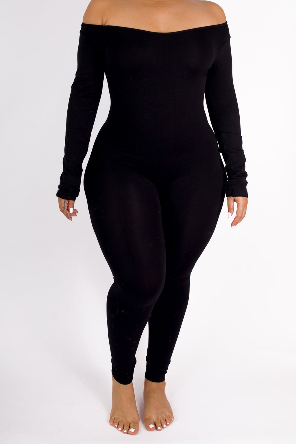 LONG SLEEVE Black Second Skin Bodysuit