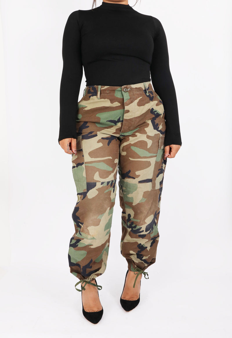 The Vintage Camo Pant in Army (1592410079304)