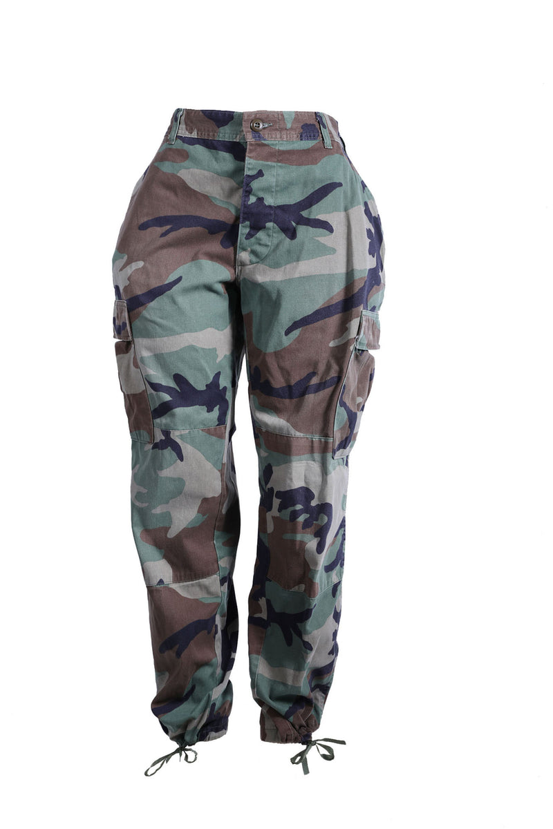 The Vintage Camo Pant in Army - Babes And Felines | Specializing in Fashionable Staple Pieces for Every Shape and Size