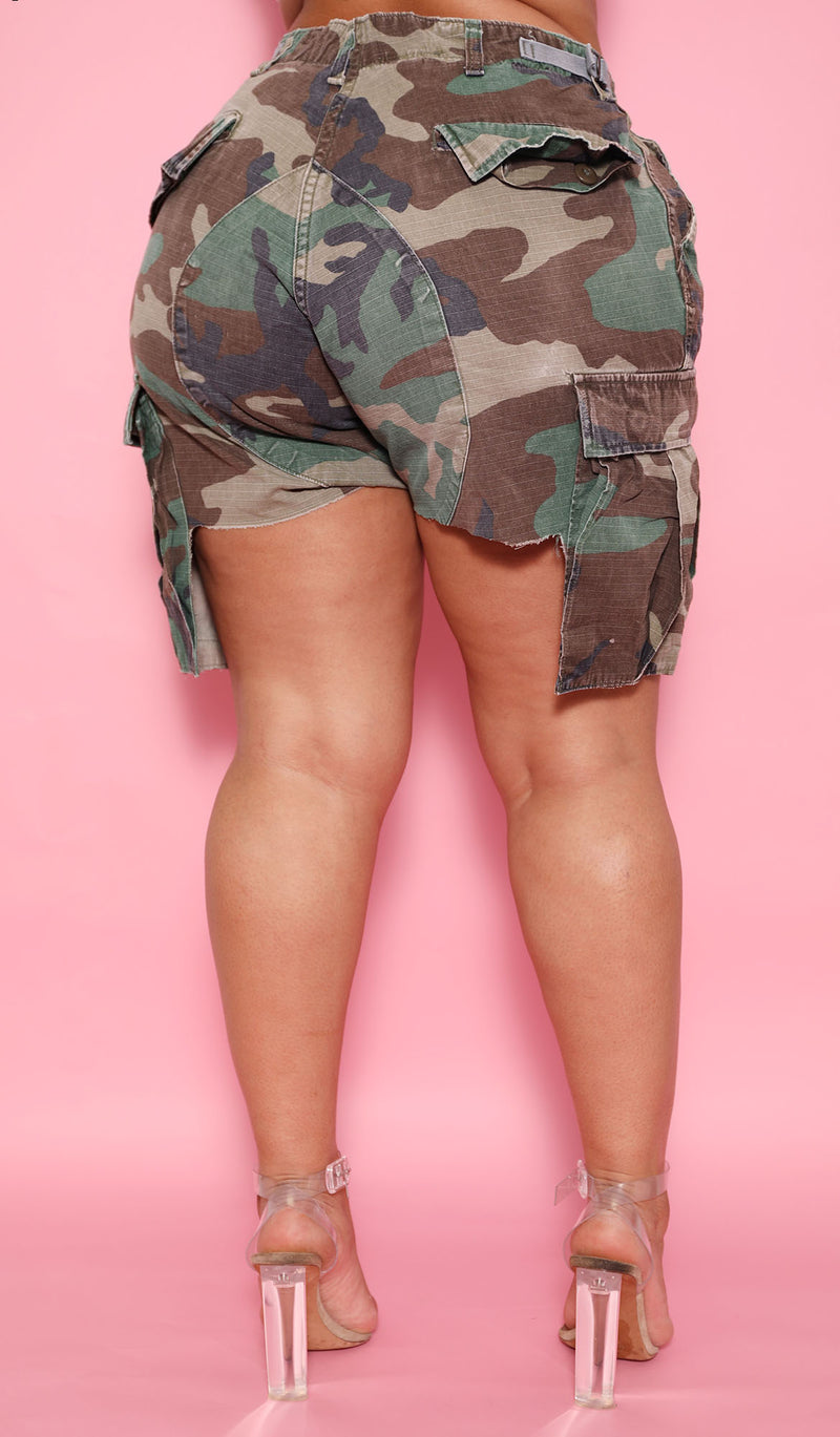 The Vintage Camo Girlfriend Short - Babes And Felines | Specializing in Fashionable Staple Pieces for Every Shape and Size (1664000491592)