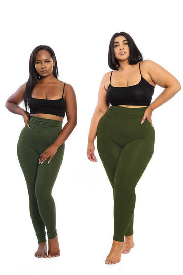 The Olive Yoga Tummy Control Legging fits up to PLUS! (choose your size) - Babes And Felines | Specializing in Fashionable Staple Pieces for Every Shape and Size