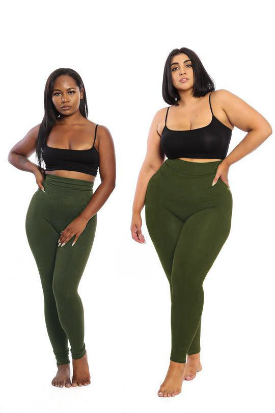 The Olive Yoga Tummy Control Legging fits up to PLUS! (choose your size) - Babes And Felines | Specializing in Fashionable Staple Pieces for Every Shape and Size (109452656660)