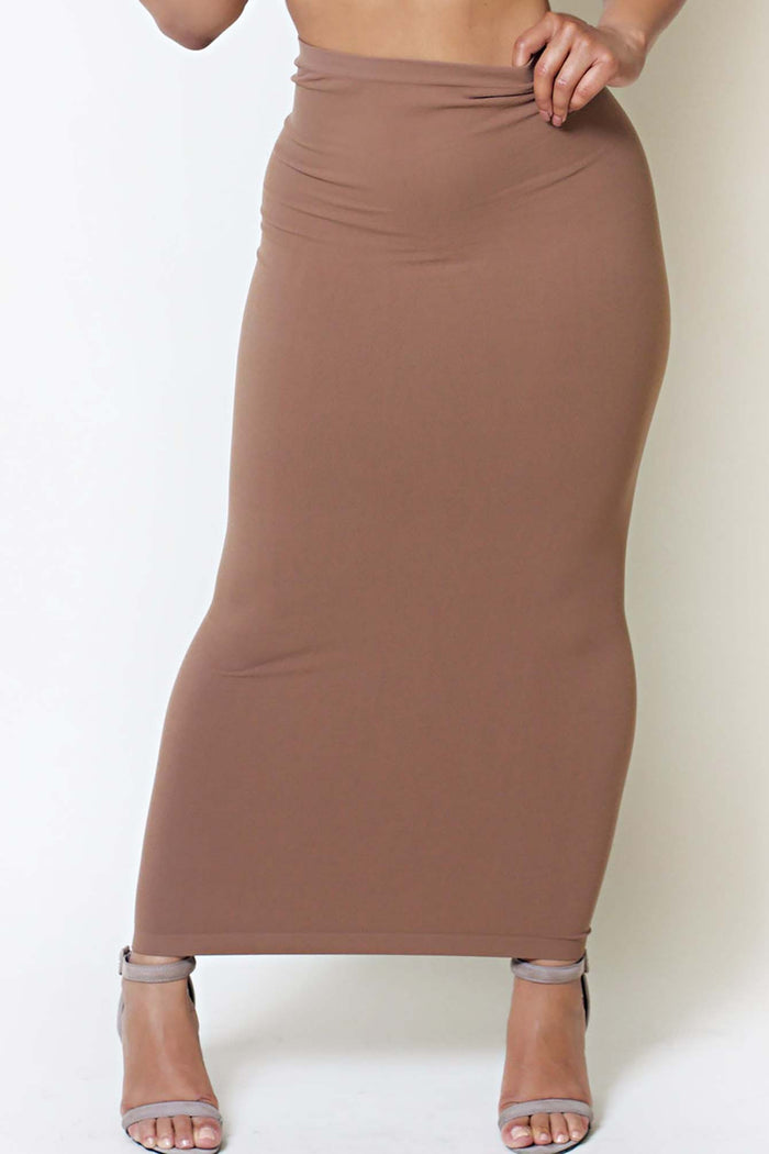 Chestnut Maxi Skirt/Tube Dress (fits up to plus)