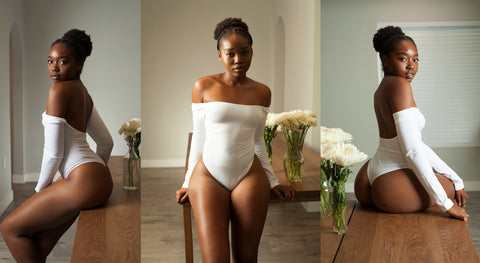 LONG SLEEVE White Body By Babes Bodysuit