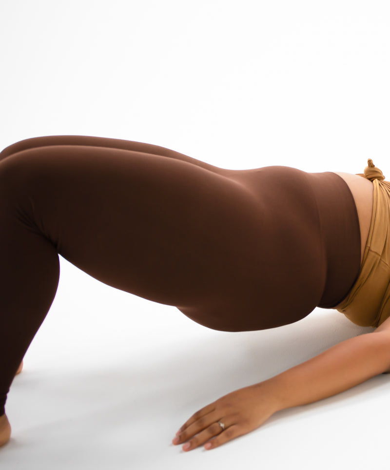 The Chocolate Cotton Tummy Control Legging (fits up to Plus)