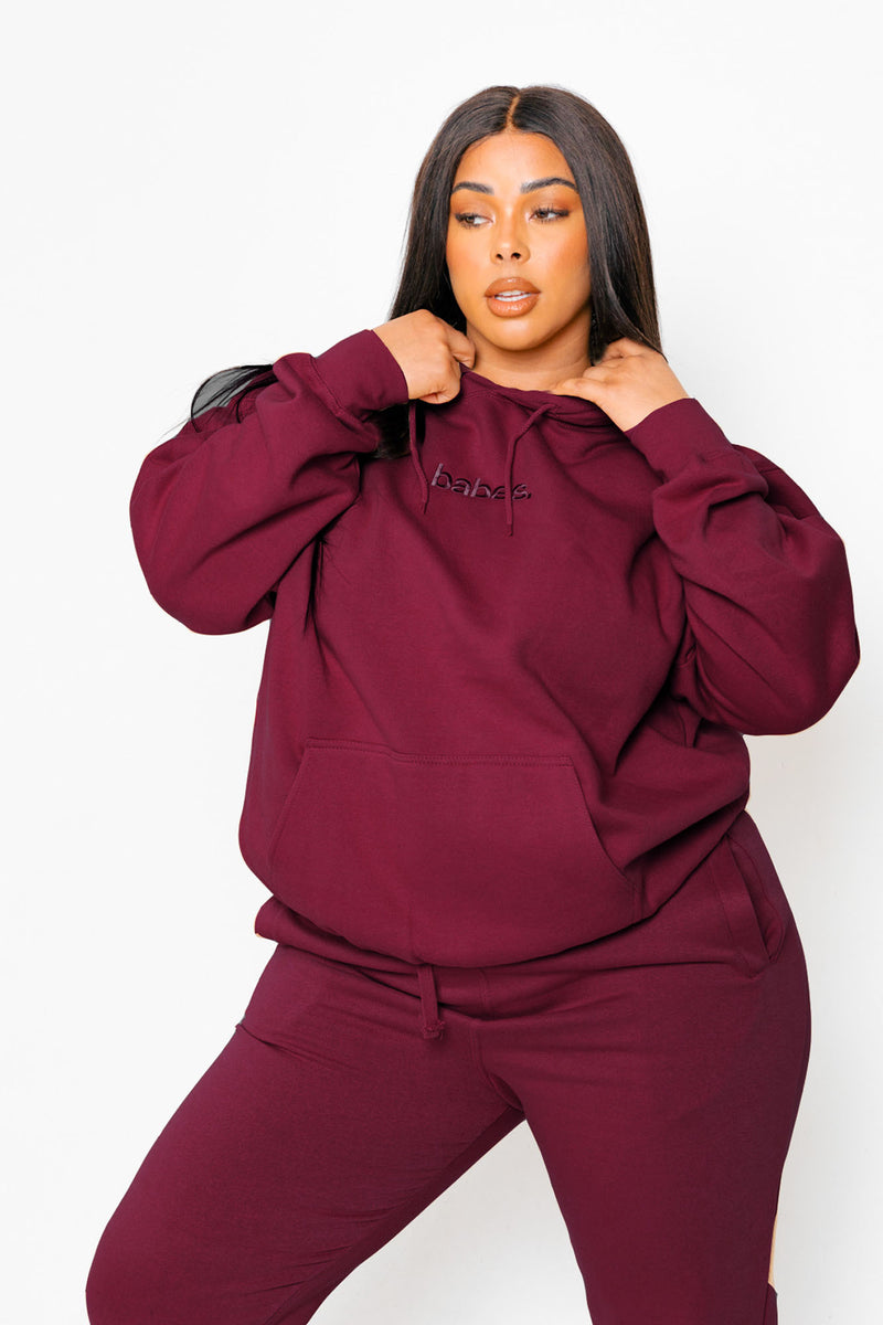 """Cranberry"" Babes Comfy Hoodie"