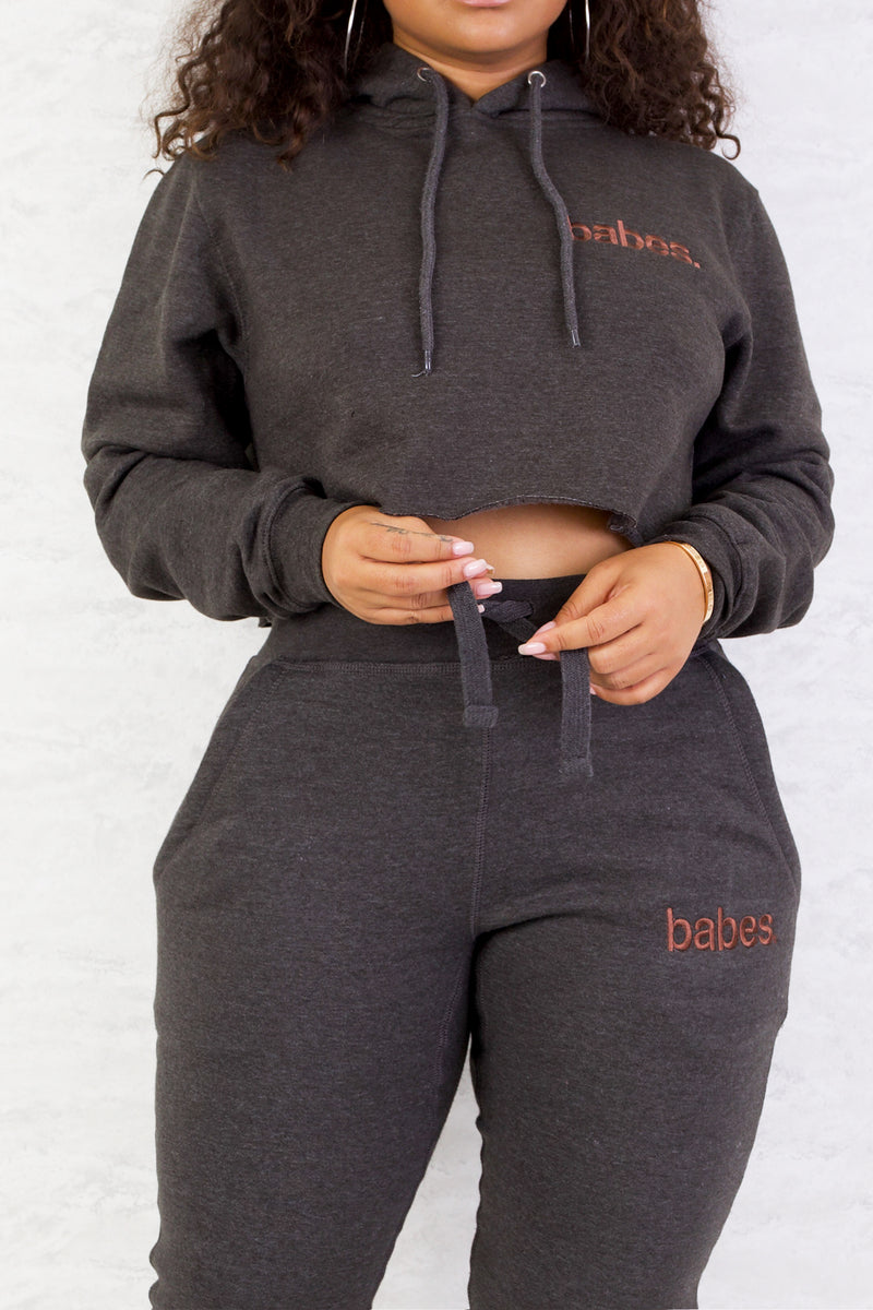 """Charcoal"" Babes Comfy Hoodie"