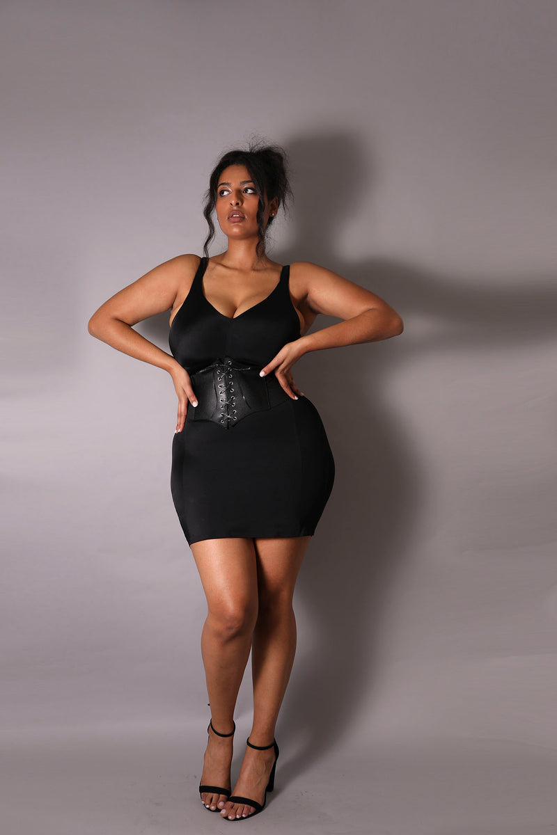 The Tummy Control Dress in Black - Babes And Felines | Specializing in Fashionable Staple Pieces for Every Shape and Size